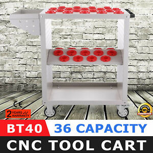 Bt40 Cnc Tool Trolley Cart Holders Toolscoot White Utility Nmbt40 Service Cart
