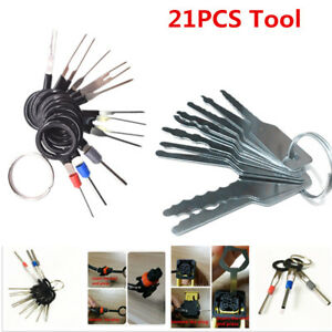 21 Car Door Key Lock Out Emergency Opening Unlock Tools Kit Puller Release Pin