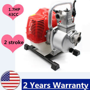 43cc 1 7hp 2stroke Petrol High Flow Water Transfer Pump Fire Fighting Irrigation