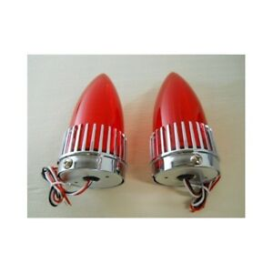 2 1959 Cadillac Style 40 Led Red Stop Brake Turn Signal Tail Lights