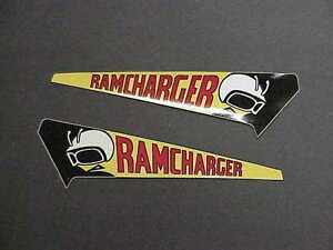 1971 1972 Dodge Charger Ramcharger Decal Air Grabber Nos Mopar
