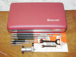 Starrett Id Inside Micrometer No 124a W Red Case