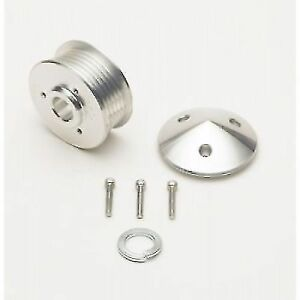March Performance 206 6 rib Aluminum Alternator Serpentine Pulley With Cover