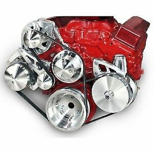 March Performance 22020 Ultra Serpentine Pulley Kit Long Water Pump For Chevy