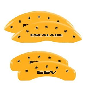 Mgp 35015sesvyl Set Of 4 Yellow Caliper Covers For Cadillac Escalade