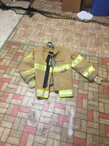 Firefighter Gear Turnout Jacket Lion Apparel Janesville 44 32 Use Or Costume