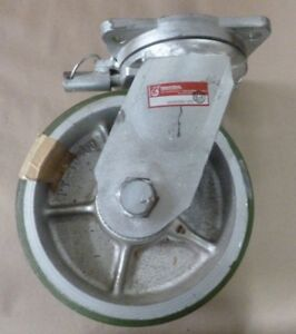 Heavy Duty 12 Tall Cast Iron Plate Caster 4 Wheel Width X 9 Diameter Usa