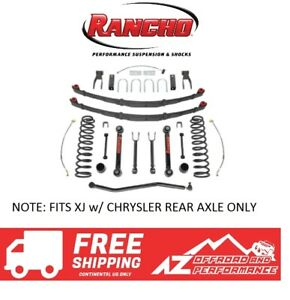 Rancho 3 5 Suspension System For Chrysler Axle 84 01 Jeep Cherokee Xj Black