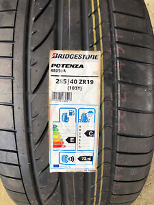 2 New 285 40 19 Bridgestone Potenza Re050a Tires