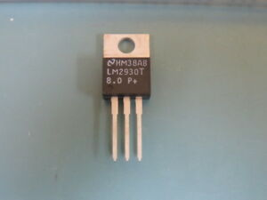 Nsc Lm2930t 8 0 Qty Of 75 Per Lot Linear Voltage Regulator Ic Positive Fixed 1