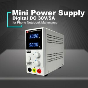 30v 5a Digital Mini Dc Power Supply Current Volt Display Adjustable Switching Xc
