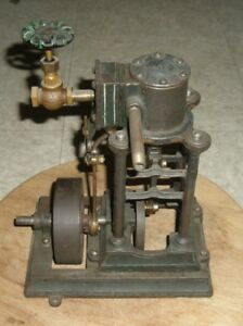 Antique Sipp 1 4 Hp Vertical Live Steam Engine