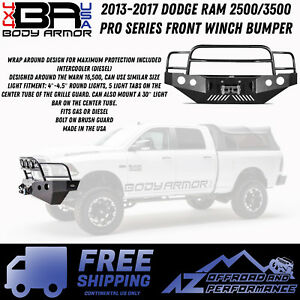 Body Armor 4x4 2013 2017 Dodge Ram 2500 3500 Pro Series Front Winch Bumper