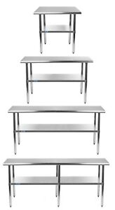 Stainless Steel Work Table With Under shelf Nsf Kitchen Food Prep All Sizes