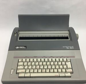 Smith Corona Sl560 Portable Electronic Typewriter Grey Spell Right Dictionary