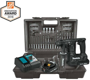 Makita 18v Lxt Sub compact Brushless Cordless 11 16 In rotary Hammer Kit Bits