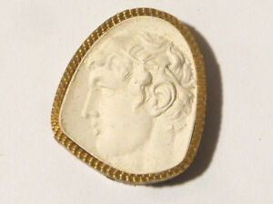 19thc Intaglio Plaster Molded Tassie Roman Emperor Unusual Grand Tour Seal 43