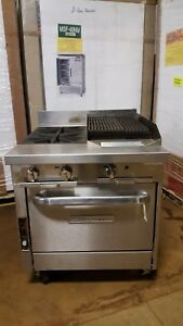 Southbend P32a xc Convection Oven W 2 Burner Stovetop And 16 Broiler