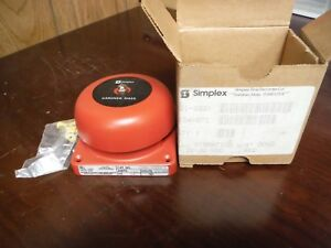 Simplex 4 Bell vibrating Gong Red 2901 9331 21 30vdc