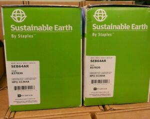 Lot Of 2 New Sustainable Earth Seb64ar Toner Cartridge For Hp Cc364a
