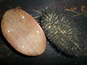 2 Antique Wood And Boars Hair Men S Brushes