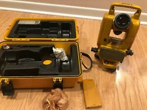 Topcon Digital Theodolite Dt 05 Surveying Level With Case Dt05