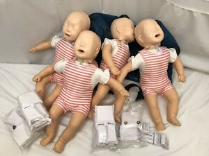 4x Laerdal Baby Anne Infant Cpr Ems Emt Nursing Training Mannequins