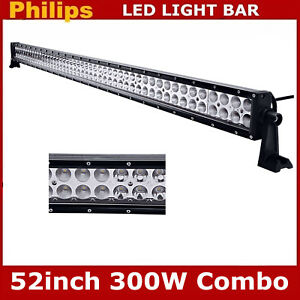Philips 52inch 300w Slim Led Light Bar Combo Driving Lamp Offroad Ford Rzr 48 50