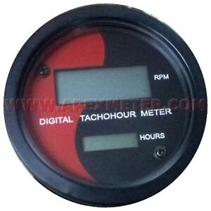 Digital Tachometer Rpm Hourmeter Magnetic Pickup Driven M16x1 5 Sensor