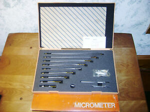 Mitutoyo Id Inside Micrometer Set No 141 133 2 12 Inches Lot1a