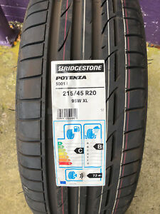 1 New 215 45 20 Bridgestone Potenza S001 Tire