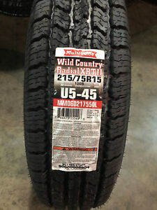 4 New 215 75 15 Wild Country Radial Xrt Ii White Letter Tires