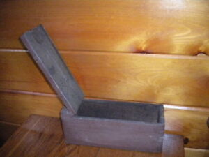 Vintage Wooden Military Ammo Box