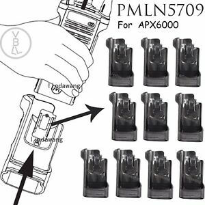 10x Pmln7901 Universal Carry Holder Case With Clip For Motorola Apx6000 Radio