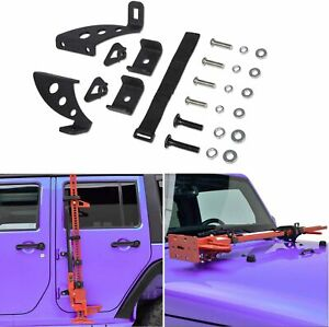 Hi Lift Jack Mount Hood Hinge Door Hinge Bracket For Jeep Wrangler Jk 2007 2018