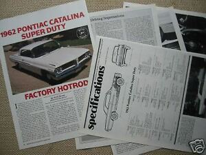 S 62 1962 Pontiac Catalina Car Info