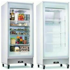 Refrigerator arctic Air Gdr22cwrf0 Commercial Glass Door Very Good Condition