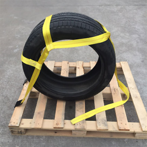 2x Tow Rope Strap Tire Basket Bonnet Tow Dolly Wheel Net Heavy Duty Towing Nylon
