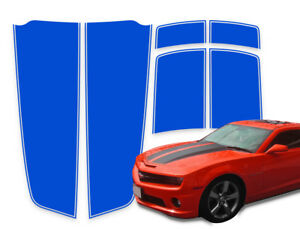 Camaro Racing Stripes Chevy Rally Graphic Decals Blue With Pinstripe 2010 2015