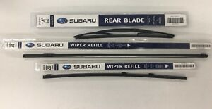 2006 2007 Subaru Tribeca Front Rear Windshield Wiper Blade Refill Set Genuine