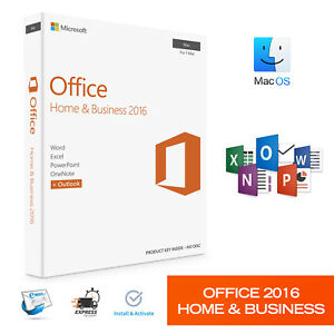 Office 2016 Home And Business For Mac Os Product Key Genuine License
