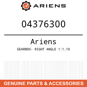 Ariens Gravely Oem 04376300 Gearbox Right Angle 1 1 10