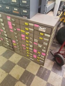 Metal Cabinet Industrial File Library Storage Art Steel 30 Drawer Steelmaster