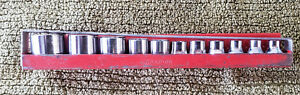 Snap On 11 Piece British Standard Socket Set Wf 94 Thru Wf 104 W tray Kta 232b