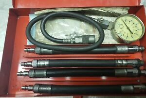 Snap On Compression Tester Vintage With Adapters