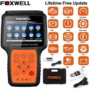 Foxwell Nt650 Obd2 Automotive Scanner Diagnosis Abs Airbag Sas Epb Dpf Oil Reset