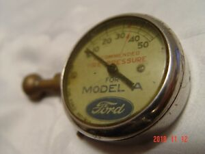 Vintage 1920s Ford Model A Tool Kit Part Antique Dial Tire Pressure Gauge