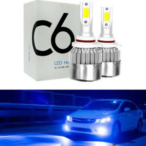 2x New 9005 9006 8000k Ice Blue Cob Led Headlights Kit Fog Light Driving Bulbs