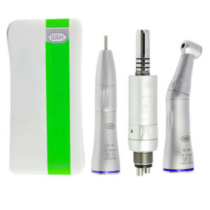W h Dental Low Speed Handpiece Kit Inner Straight Contra Angle Air Motor 4holes