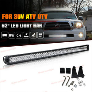 52 inch Led Work Light Bar Combo Truck Offroad 4wd Suv Utv Boat Driving 50